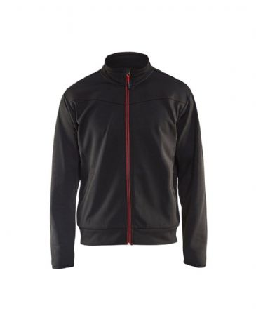 Blaklader 3362 Sweatshirt With Full Zip (Black/Red)